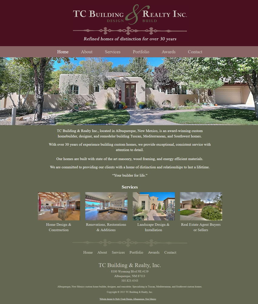 Apple Valley Home Care Ruby Creek Website Design  Albuquerque Web Designer Portfolio